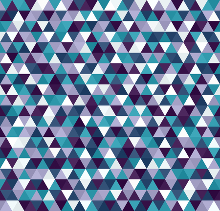 A Triangle pattern. Seamless vector with blue, green, lavender, purple, white triangles
