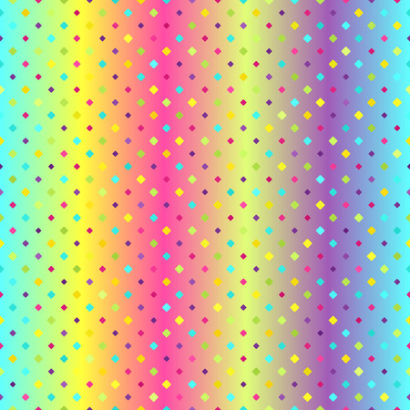 Glowing diamond pattern Seamless vector background Illustration