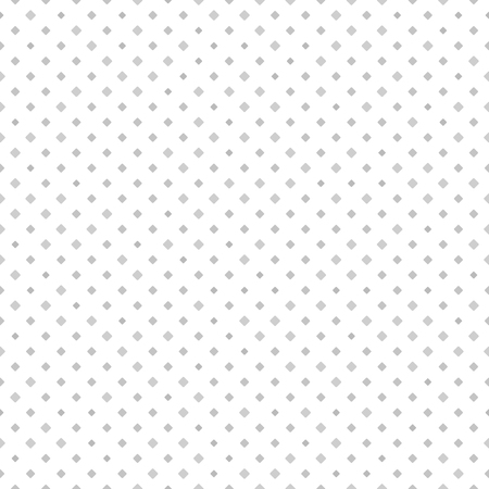 Diamond pattern. Seamless vector background - gray rounded diamonds of different size on white backdrop Illustration