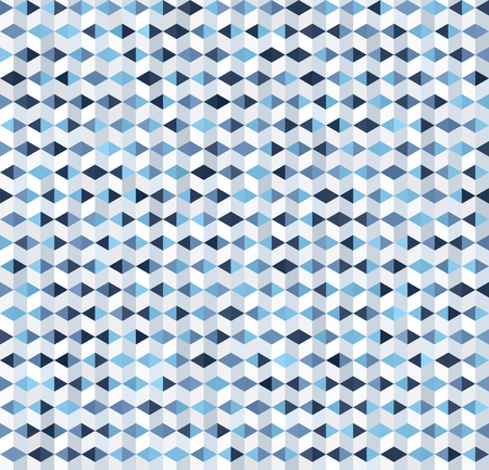 Geometric pattern with triangles and polygons. Seamless vector background - blue, gray and white triangles and parallelograms