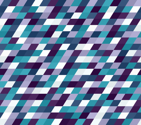 Parallelogram pattern. Seamless vector background with blue, green, lavender, purple quadrangles Illustration