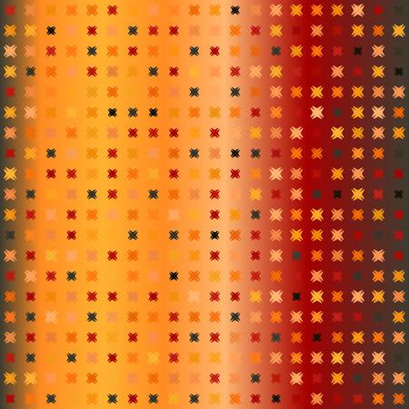 Glowing pattern. Seamless vector background - red, peach, black, orange, pumpkin shapes on gradient backdrop