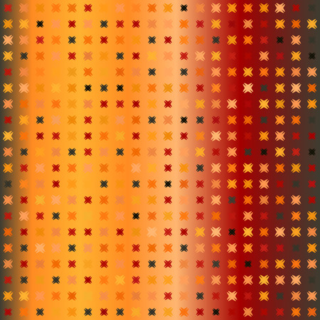 Glowing pattern. Seamless vector background - red, peach, black, orange, pumpkin shapes on gradient backdrop