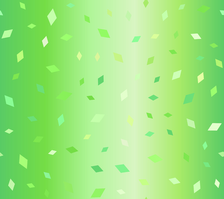 Glowing diamond pattern. Seamless vector background - green tetragons on gradient backdrop
