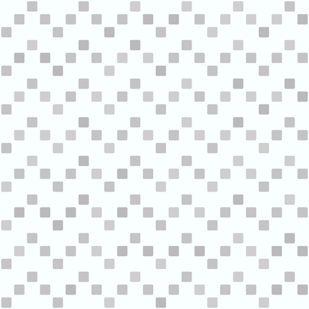 Gray square zigzag pattern. Seamless vector background - grey rounded squares on white backdrop