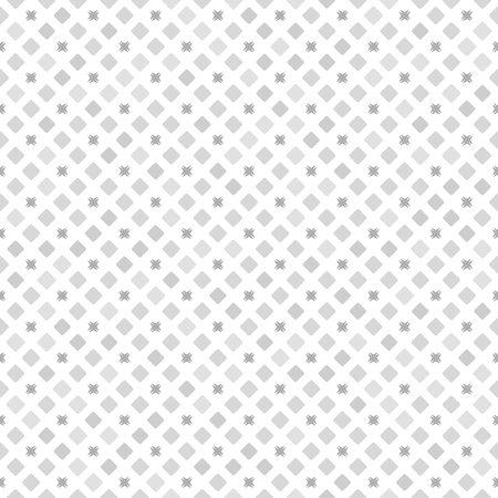 Gray diamond pattern. Seamless vector background - grey rounded diamonds and dark grey shapes on white backdrop Illustration