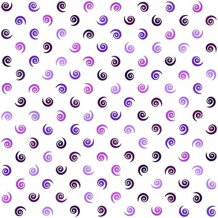 スパイラルパターン。シームレスなベクトルの背景 - アメジスト、ラベンダー、プラム、紫、紫色の渦巻き