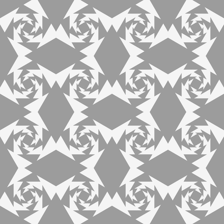 Ornate square pattern. Seamless vector background with gray and white squares Illustration