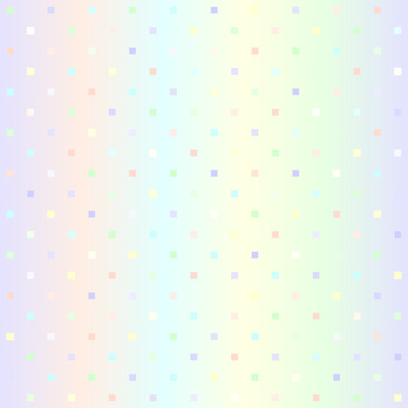 Glowing square pattern. Seamless vector background - violet, rose, cyan, yellow, green squares on gradient backdrop