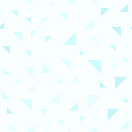 Cyan triangle pattern. Seamless vector background - cyan right triangles on light cyan backdrop