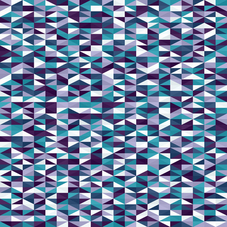 Triangle pattern. Seamless vector background with blue, green, lavender, purple right triangles