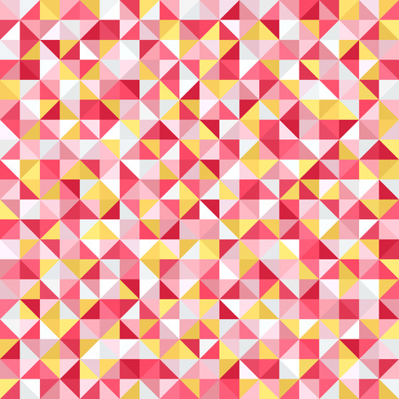 Triangle pattern. Seamless vector background with yellow, rose, white, peach triangles Ilustracja