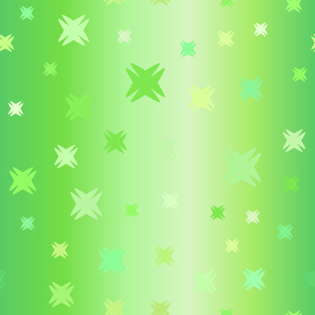 Gradient geometric pattern. Seamless vector background - green shapes on gradient backdrop