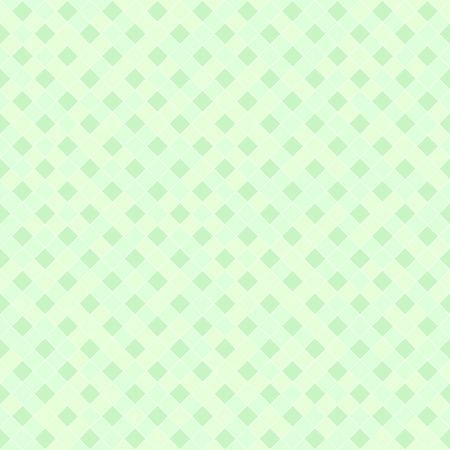 Green diamond pattern. Seamless vector background - green diamonds on light mint backdrop Illustration