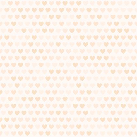 Peach heart pattern. Seamless vector background - orange hearts on light beige backdrop 写真素材 - 115411901
