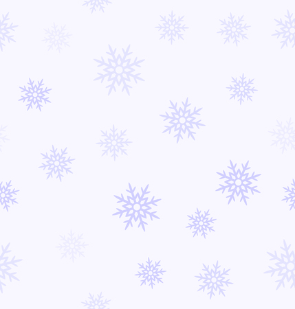 Violet snowflake pattern. Seamless vector background - lilac snowflakes on light lavender backdrop  イラスト・ベクター素材