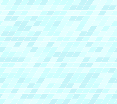 Cyan parallelogram pattern. Seamless vector background - blue polygons on light cyan backdrop  イラスト・ベクター素材