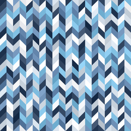 Herringbone pattern. Seamless vector parquet background with blue, gray and white polygons