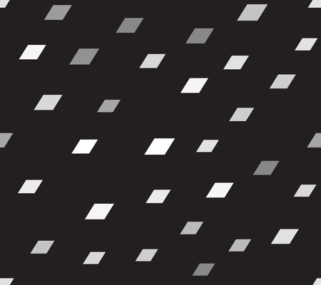 Parallelogram pattern. Seamless vector background - gray parallelograms on black backdrop