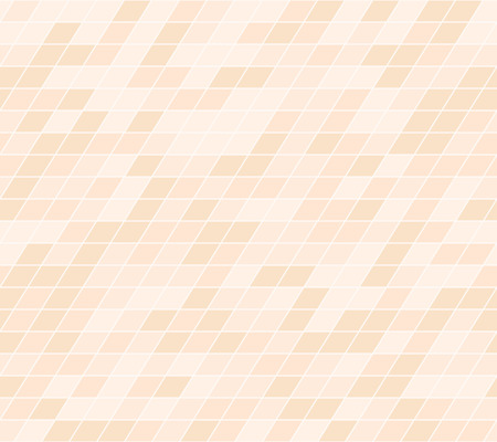 Orange parallelogram pattern. Seamless vector background - peach polygons on light beige backdrop  イラスト・ベクター素材