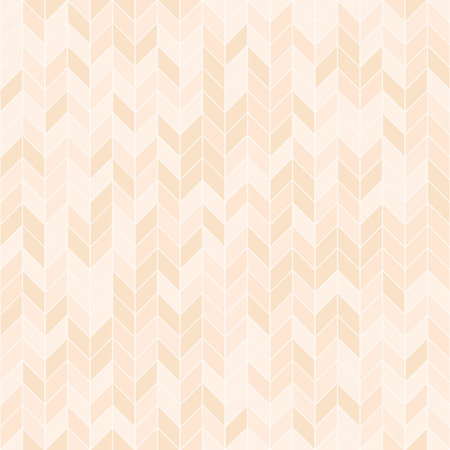 Peach parquet pattern. Seamless vector herringbone background - orange polygons on light beige backdrop