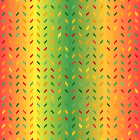 Glowing polygon pattern. Seamless vector background - red, light green, yellow, green, orange parallelograms on gradient backdrop