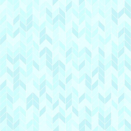 Cyan herringbone pattern. Seamless vector background - blue polygons on light cyan backdrop