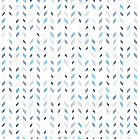 Parallelogram pattern. Seamless vector background - blue, gray and white polygons of different size on white backdrop
