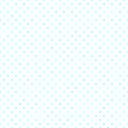 Cyan diamond pattern. Seamless vector background - blue rounded diamonds of different size on light cyan backdrop