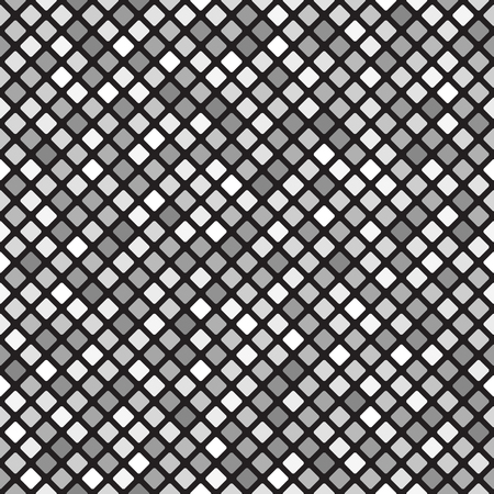 Gray rounded diamond pattern. Seamless vector background - gray diamonds on black backdrop 일러스트