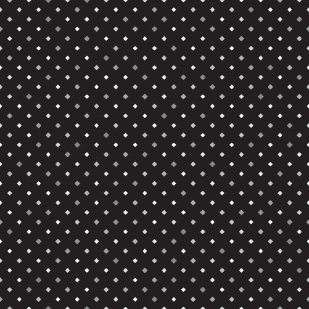 Diamond pattern. Seamless vector background - gray rounded diamonds of different size on black backdrop