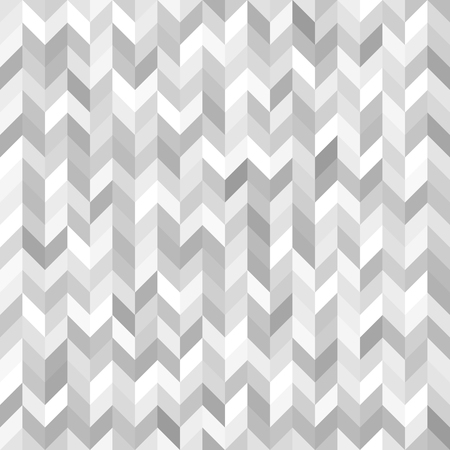 Herringbone pattern. Seamless vector background with gray, silver and white polygons