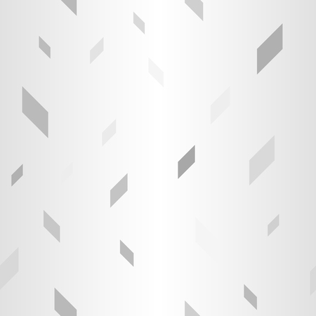 Gradient polygon pattern. Seamless vector background - gray, silver and white tetragons on glowing backdrop  イラスト・ベクター素材