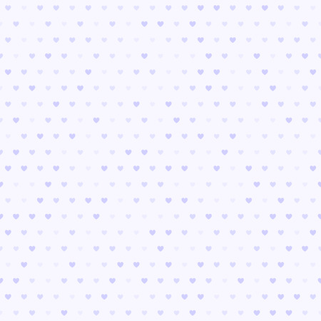 Violet heart pattern. Seamless vector background - lilac hearts of different size on light lavender backdrop