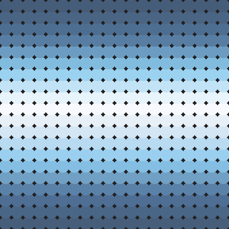 Circle pattern. Seamless vector background - blue, gray and white circles on black backdrop