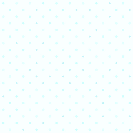 Cyan polka dot pattern. Seamless vector background - blue circles of different size on light cyan backdrop