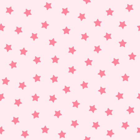 Star pattern. Seamless vector background - rose five-pointed stars on pink backdrop
