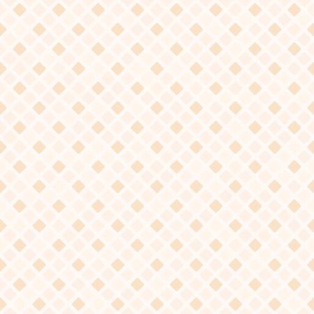 Peach diamond pattern. Seamless vector background - orange rounded diamonds on light backdrop