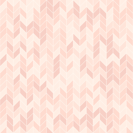 Rose herringbone pattern. Seamless vector background - red parquet on light pink backdrop Ilustração