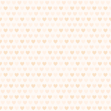 Peach heart pattern. Seamless vector background - orange hearts on light beige backdrop  イラスト・ベクター素材