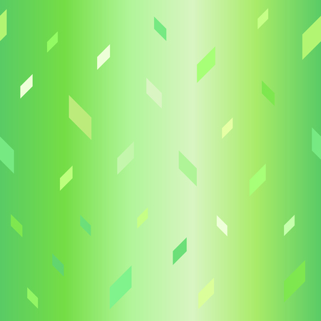 Glowing parallelogram pattern. Seamless vector background - green polygons on gradient backdrop Ilustracja
