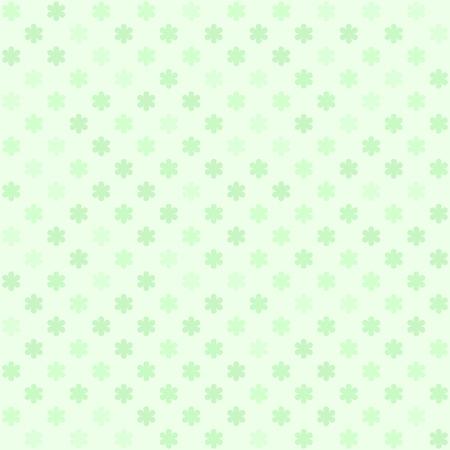 Green flower pattern. Seamless vector background - green daisies on light mint backdrop
