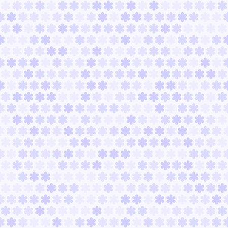 Violet flower pattern. Seamless vector background - lilac daisies on light lavender backdrop
