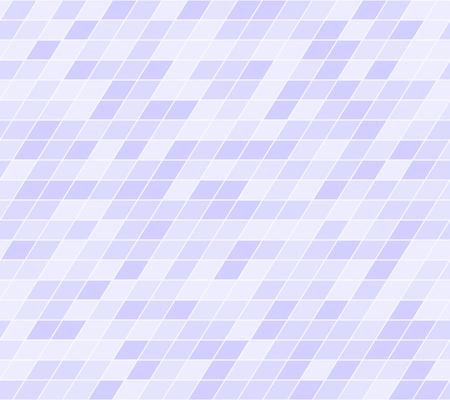Violet parallelogram pattern. Seamless vector background - lilac polygons on light lavender backdrop