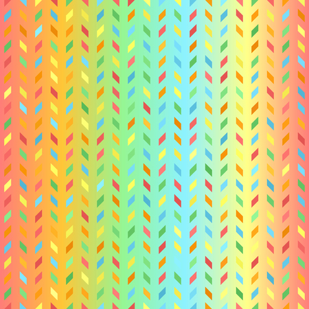 Bright polygon pattern. Seamless vector background - red, orange, yellow, green, blue parallelograms on gradient backdrop