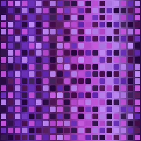 Gradient rounded square pattern. Seamless vector background - amethyst, lavender, plum, purple, violet squares on glowing backdrop