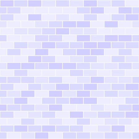 Violet brick wall pattern. Seamless vector background - lilac rectangular bricks on light lavender backdrop