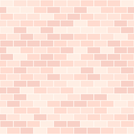 Rose brick pattern. Seamless vector background - red rectangular bricks on light pink backdrop Illustration