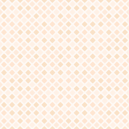 Peach diamond pattern. Seamless vector background - orange rounded diamonds on light beige backdrop