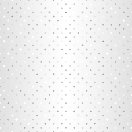 Silver diamond pattern. Seamless vector background - gray and white rounded diamonds of different size on gradient backdrop Illustration